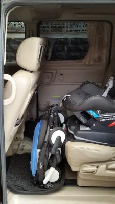 Yoyo disimpan dibawah Car Seat jika butuh space lebih di bagasi