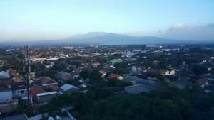 Pemandangan gunung Kelud